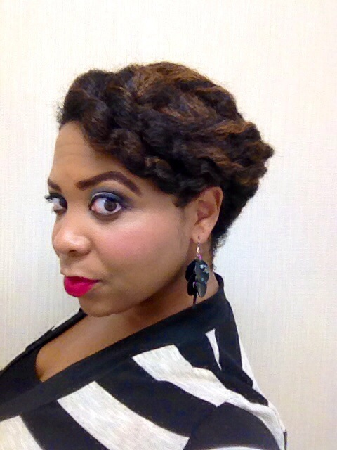 Brilliant Twist Out Pinup Style With Highlights Tj Luvs Being Natural Hairstyles For Women Draintrainus