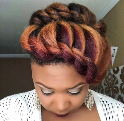 Double Flat Twist Updo Part Ii Tj Luvs Being Natural